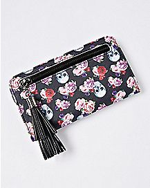 Floral Skull Phone Wallet