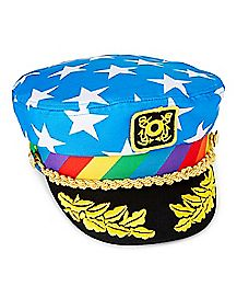 Rainbow Americana Skipper Hat