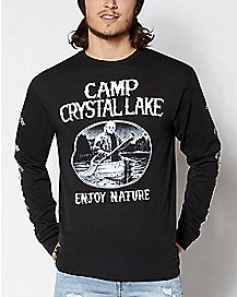 Camp Crystal Lake Long Sleeve T Shirt - Friday the 13th