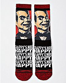 Slappy's Not Happy Crew Socks - Goosebumps