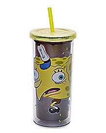 Meme Spongebob Cup With Straw 20 oz. - Nickelodeon