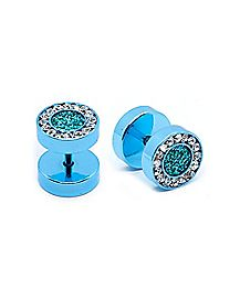 CZ Aqua Anodized Fake Plugs - 16 Gauge