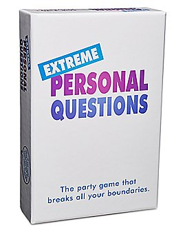 Extreme Personal Questions Card Game
