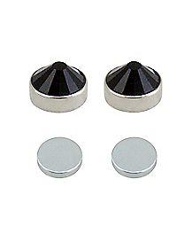 Black CZ Magnetic Stud Earrings