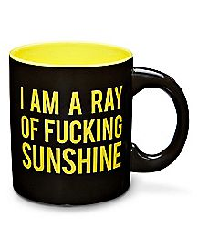 Black I Am A Ray of Sunshine Coffee Mug - 20 oz.