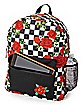 Checkered Rose Backpack