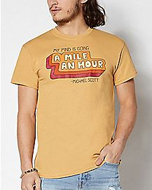 Mile An Hour Michael Scott T Shirt - The Office