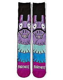 Face Loot Llama Crew Socks - Fortnite