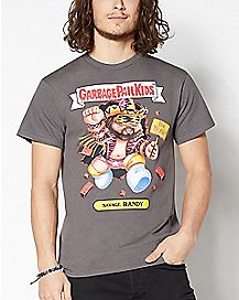 Macho Man Savage Randy Garbage Pail Kids T Shirt - WWE