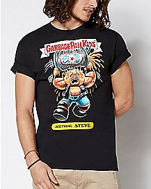 Seething Steve Garbage Pail Kids T Shirt - WWE