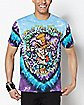 We're All Mad Here Tie Dye T Shirt - Alice in Wonderland