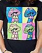 Grid Mushroom T Shirt