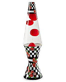 Red Rose Checker Lava Lamp - 17 Inch