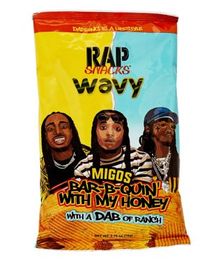 Migos Bar-B-Quin' With My Honey and Ranch Wavy Potato Chips