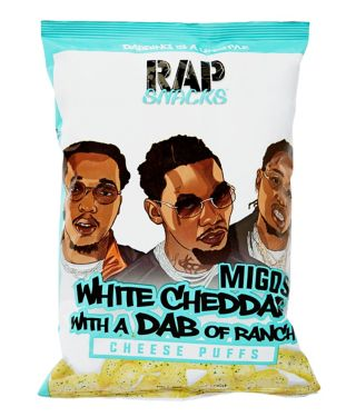 Migos White Cheddar With a Dab of Ranch Cheese Puffs