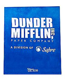 Dunder Mifflin Fleece Blanket - The Office