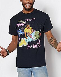 Black Takeoff Rocket T Shirt