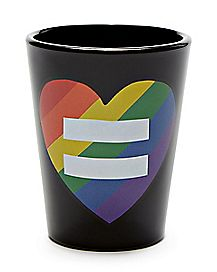 Rainbow Heart Equality Shot Glass - 2 oz.