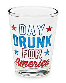 Day Drunk for America Shot Glass - 1.8 oz.
