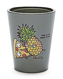 Pineapple Pizza Forbidden Love Shot Glass - 1.8 oz.
