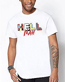 Printed Hell Nah T Shirt
