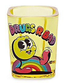 Square Drugs R Bad Shot Glass 2 oz. - Ink Boy