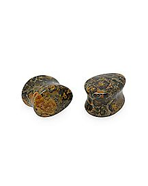 Black and Brown Teardrop Plugs