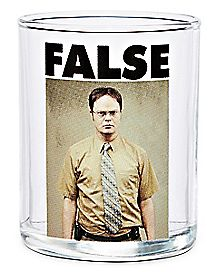 False Dwight Schrute Shot Glass 3 oz. - The Office
