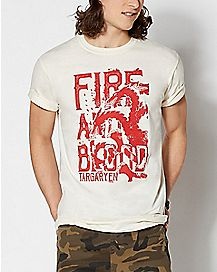 Fire Targaryen Dragon T Shirt - Game of Thrones