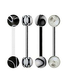 Multi-Pack Marble Barbells 4 Pack - 14 Gauge