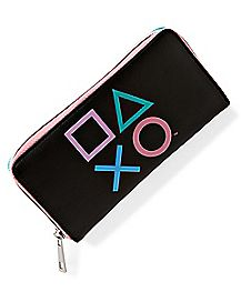 PlayStation Button Zipper Wallet