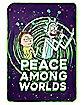 Peace Among Worlds Fleece Blanket - Rick and Morty