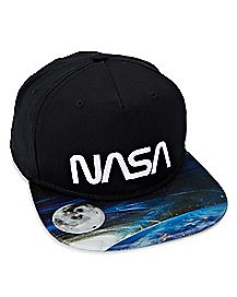 Black NASA Snapback Hat - NASA