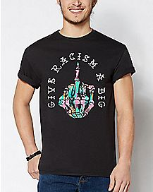 Give Racism A Big Middle Finger T Shirt