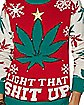 Light-Up Leaf Light That Shit Up Ugly Christmas Sweater