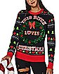 Light-Up This Bitch Loves Christmas Ugly Christmas Sweater