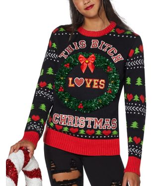 This Bitch Loves Christmas Ugly Christmas Sweater