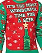 Light-Up It's the Most Wonderful Time for A Beer Ugly Christmas Sweater