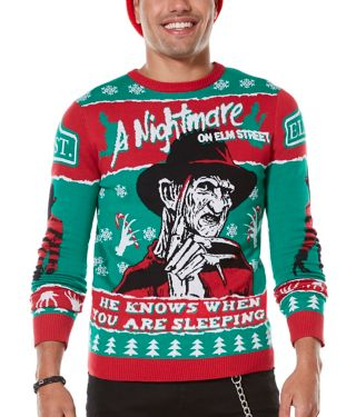 Freddy Krueger A Nightmare on Elm Street Ugly Christmas Sweater