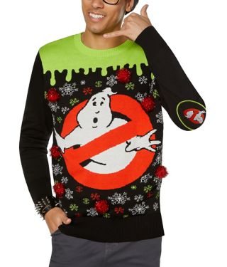 Light-Up Ghostbusters Ugly Christmas Sweater