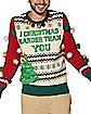 Light-Up I Christmas Harder Than You Ugly Christmas Sweater