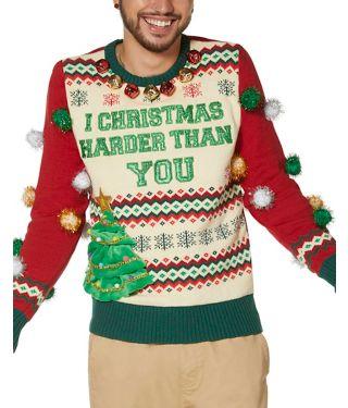 I Christmas Harder Than You Ugly Christmas Sweater