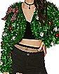 Tinsel Bolero Ugly Christmas Cropped Jacket
