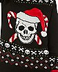 Candy Cane Skull Ugly Christmas Sweater