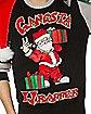 Santa Gangsta Wrapper Ugly Christmas Sweater