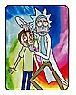 Tie Dye Rick and Morty Sherpa Fleece Blanket