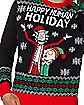 Light-Up Happy Human Holiday Ugly Christmas Sweater - Rick and Morty