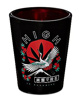High In Paradise Kanji Shot Glass - 2 oz.