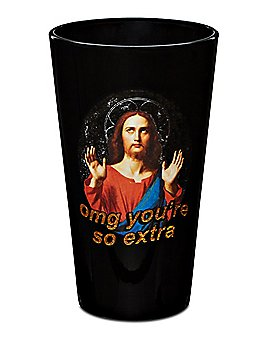 Omg You're So Extra Jesus Pint Glass - 16 oz.
