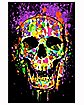 Splatter Skull Blacklight Poster